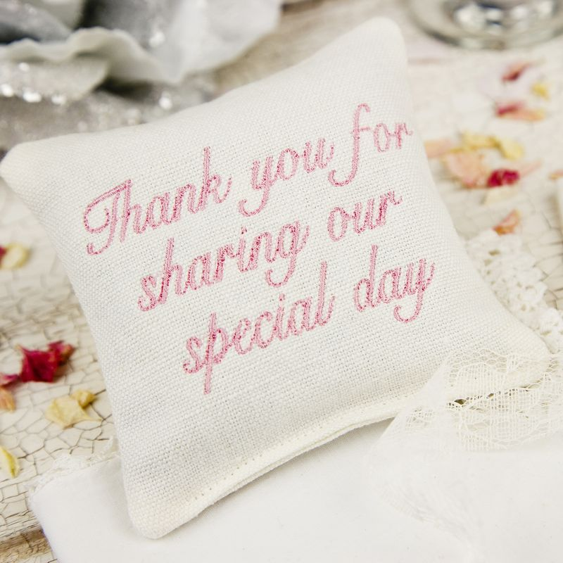 Embroidered Wedding Favours Lavender Pillows - product images