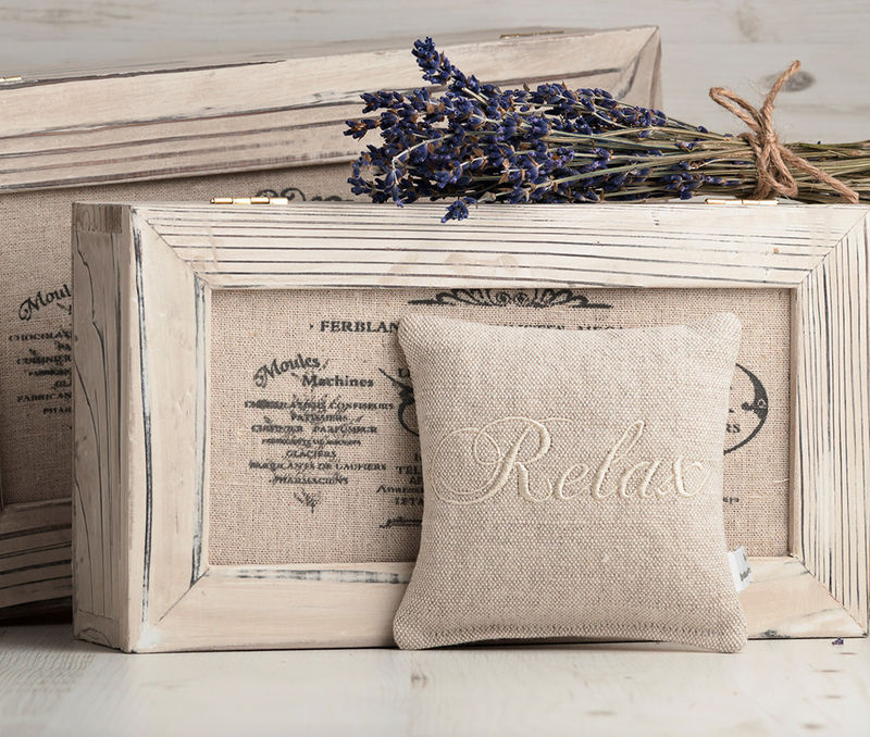 Embroidered Linen Lavender Pillow set of three - product images  of