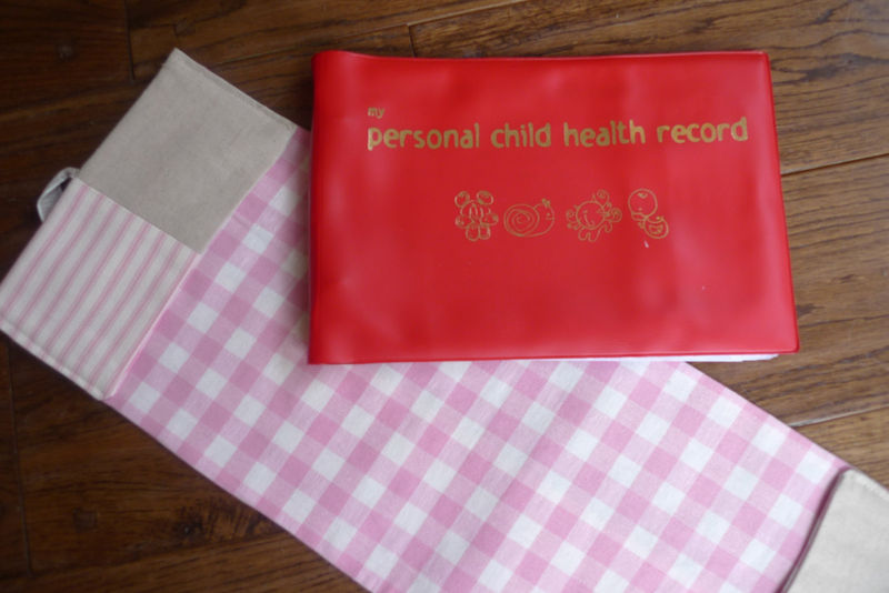 A lovely personalisd cover for your baby's health record book (NHS Red Book) - product images  of