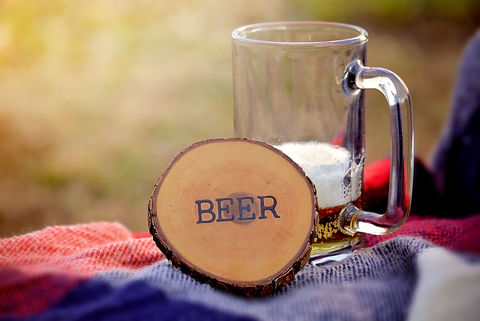 Wood,Burned,Oak,Coasters-,Beer,rustic, wood burned, coaster