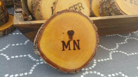 Wood,Burned,Oak,Coasters-,♡,MN,rustic, wood burned, coaster