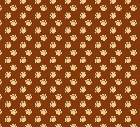 Cotton,Quilt,Fabric,Paw,Prints,Brown,Tan,Cats,Dogs,Pet,Lovers,quilt fabric,cotton material,auntie chris quilt,sewing,crafts,quilting,online fabric,sale fabric