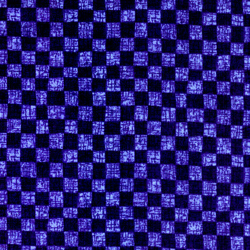 Cotton Quilt Fabric Classic Folk Art Checkerboard Purple Blue