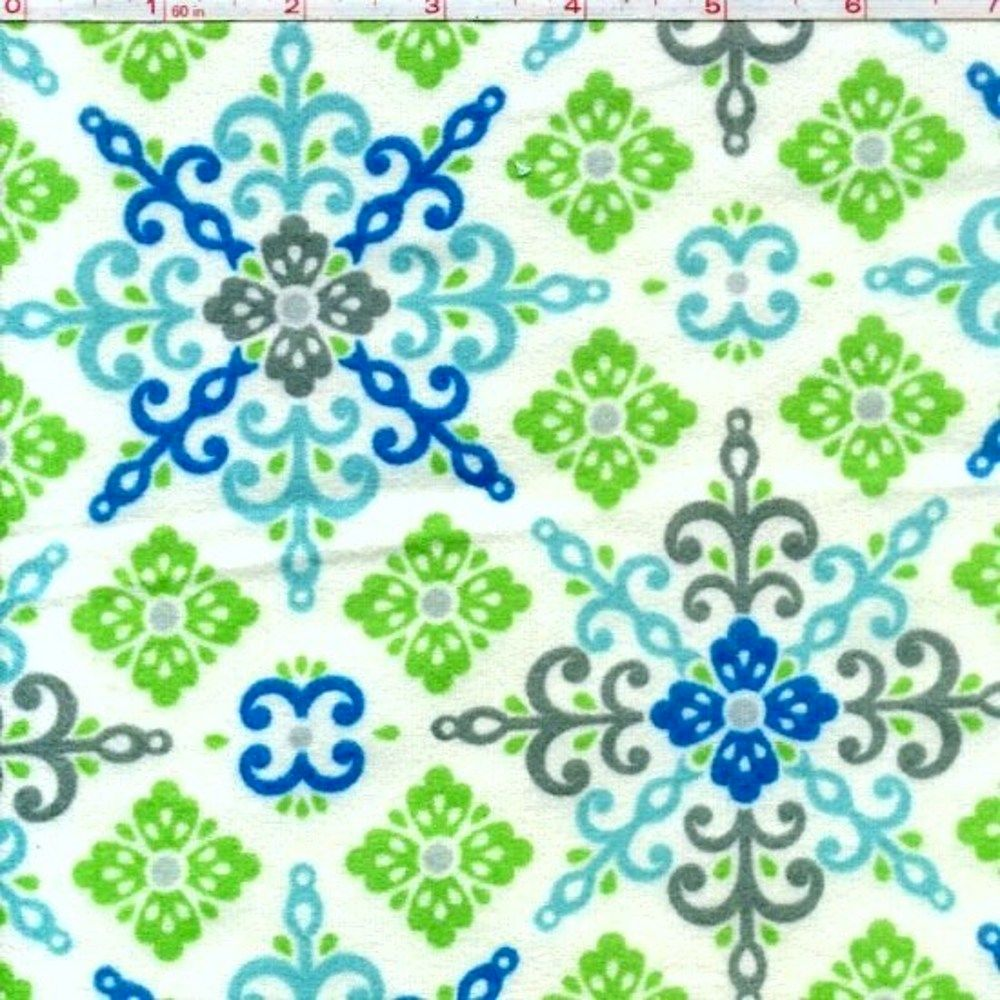 Cotton Quilt Fabric Flannel Winter Warmth Snowflake
