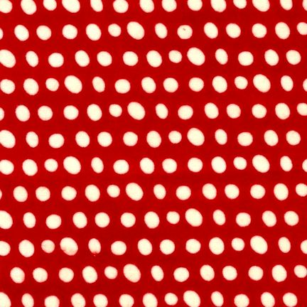 Cotton Quilt Fabric Flannel Quilt Fabric Red White Dots Christmas - product image