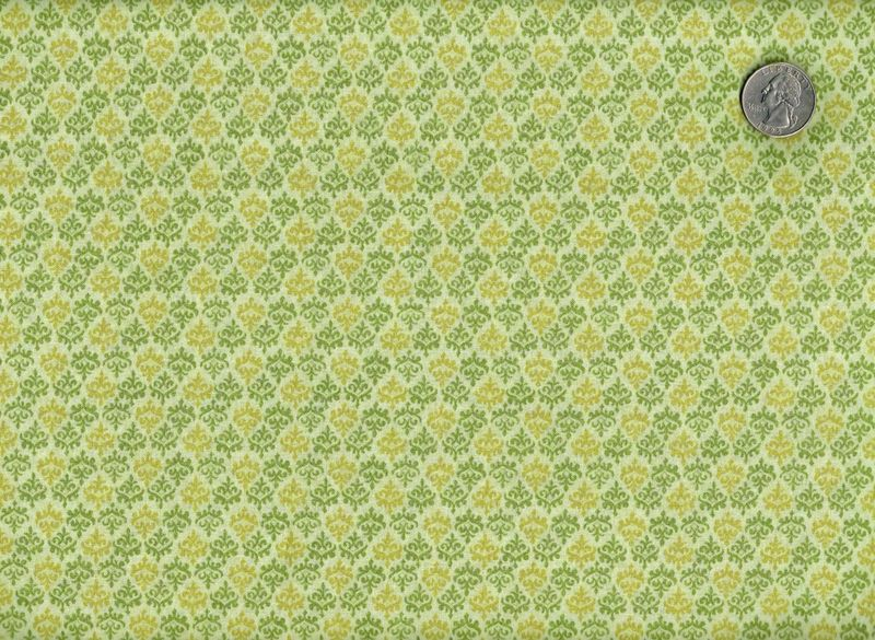 Cotton Quilt Fabric Legendary Basics Green Damask Reproduction  - product image