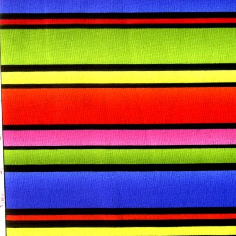 Cotton Quilt Fabric It's A Party Bright Stripe Baby Quilt  - product image