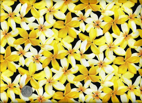 Cotton,Quilt,Fabric,In,Paradise,Yellow,And,Black,Floral,quilt fabric,cotton material,auntie chris quilt,sewing,crafts,quilting,online fabric,sale fabric auntie chris quilt