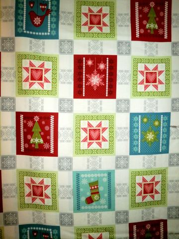 Cotton,Quilt,Fabric,O,Christmas,Tree,Holiday,Blocks,Trees,Snowflakes,quilt fabric,cotton material,auntie chris quilt,sewing,crafts,quilting,online fabric,sale fabric