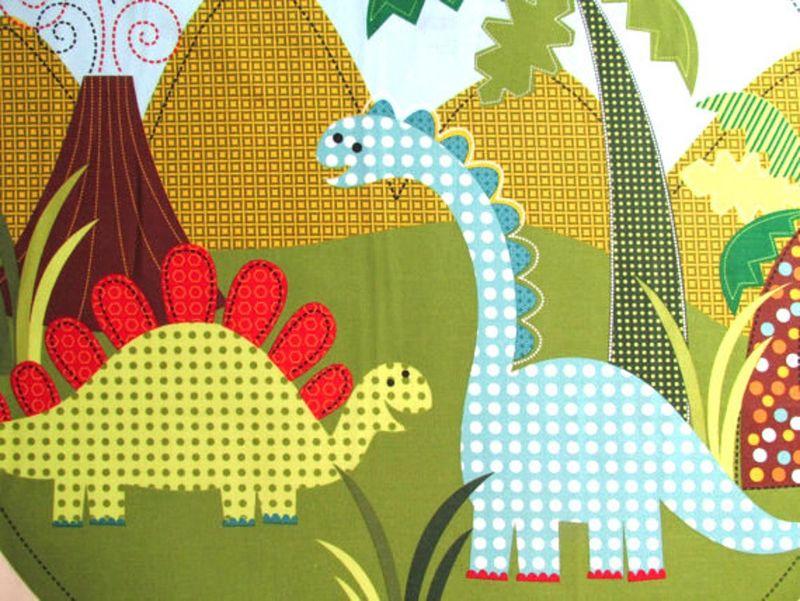 Quilt Fabric Panel Dino Dinosaur Fabric M Miller Pillow