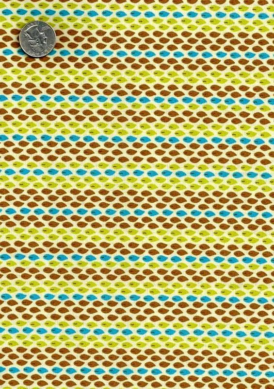 Cotton Quilt Fabric Halo Geometric Brown Turquoise Modern  - product image