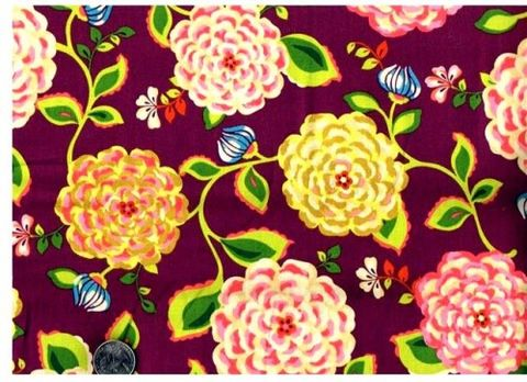 Cotton,Quilt,Fabric,Halo,Large,Floral,Purple,Pink,Girls,Bohemian,quilt fabric,cotton material,auntie chris quilt,sewing,crafts,quilting,online fabric,sale fabric