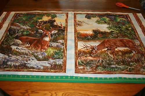 Flannel Quilt Fabric Change Of Scenery Deer Fabric