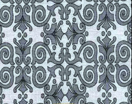 Cotton Quilt Fabric Life Is Beautiful Gray Art Deco Damask  - product images  of