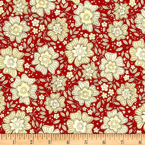 Cotton,Quilt,Fabric,Love,More,Etched,Floral,Cranberry,Red,Black,Tan,quilt fabric,cotton material,auntie chris quilt,sewing,crafts,quilting,online fabric,sale fabric