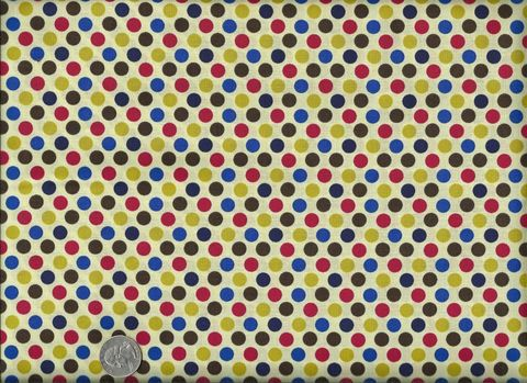 Cotton,Quilt,Fabric,Party,Dots,Red,Green,Blue,Bright,Polka,quilt fabric,cotton material,auntie chris quilt,sewing,crafts,quilting,online fabric,sale fabric