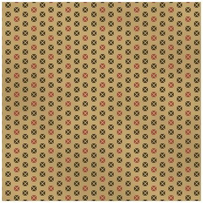 Cotton Quilt Fabric Civil War Album 11 Reproduction Tan