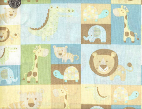 Cotton,Quilt,Fabric,Jungle,Patch,Baby,Animal,Lion,Tiger,Elephant,quilt fabric,cotton material,auntie chris quilt,sewing,crafts,quilting,online fabric,sale fabric