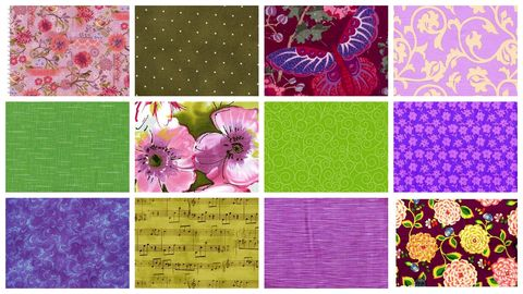 Violet,Fields,Garden,Stash,Builder,Purple,Green,Quilt,Fabric,3,Yards,kit,quilt fabric,cotton material,auntie chris quilt,sewing,crafts,quilting,online fabric,sale fabric