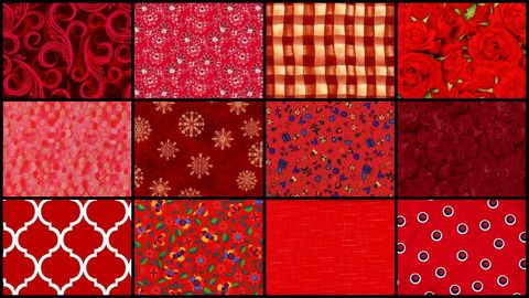 Seeing,Red,Stash,Builder,Quilt,Fabric,Mix,3,Yards,kit,quilt fabric,cotton material,auntie chris quilt,sewing,crafts,quilting,online fabric,sale fabric