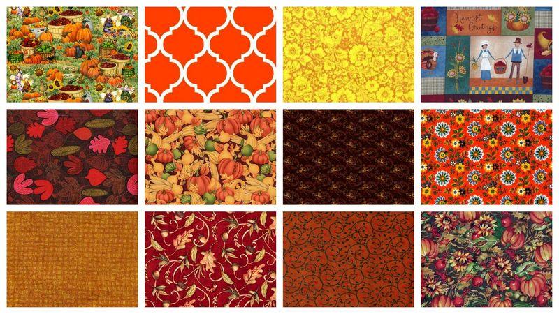 3 Yard Stash Builder Autumn Harvest Fall Theme Quilt Fabric ... : fall quilt fabric - Adamdwight.com