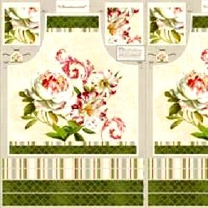 1 Panel Scentimental Apron Panel Kit Large Peony Floral Quick Gift - product images  of