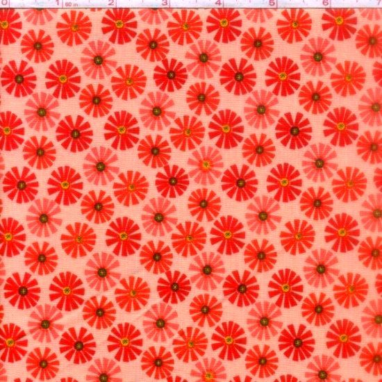 Cotton Quilt Fabric Roots And Wings Coral Floral Riley Blake - product image