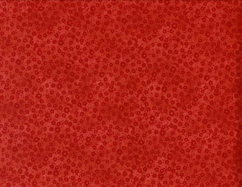 Cotton Quilt Fabric Focus II Red Orange Calico Tone On Tone - product image