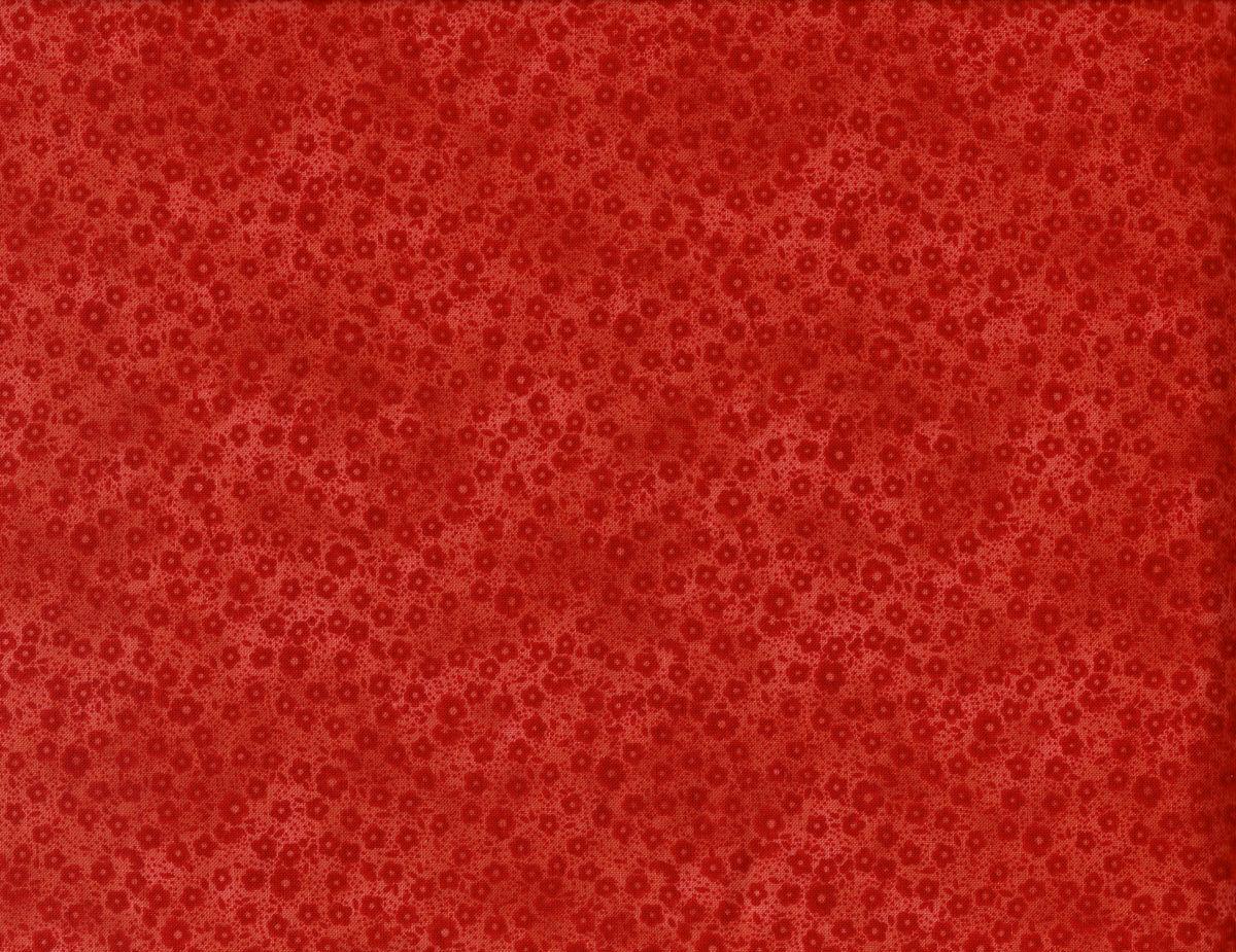 Cotton quilt fabric focus ii red orange calico tone on for Cotton quilting fabric