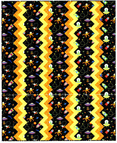 Ionosphere,Flannel,Quilt,Kit,Easy,Piecing,Space,Astronauts,Aliens,Planets,kit,quilt fabric,cotton material,auntie chris quilt,sewing,crafts,quilting,online fabric,sale fabric