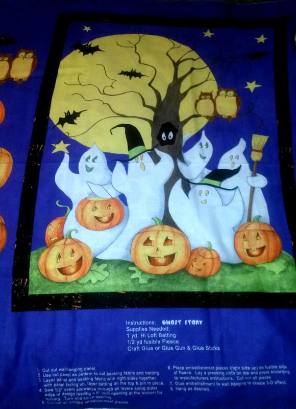 Easy Quilt Fabric Panel Kit  Ghost Story Fabric Wall Hanging Panel Cotton - product images  of