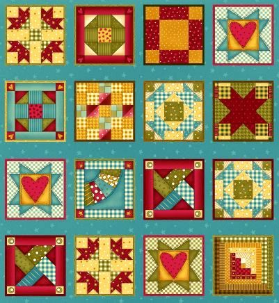 Cotton,Quilt,Fabric,Panel,Built,Each,Other,Up,Patchwork,Cheater,Blocks,quilt fabric,cotton material,auntie chris quilt,sewing,crafts,quilting,online fabric,sale fabric