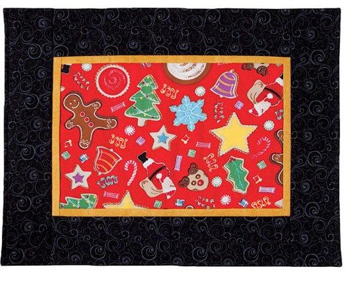 As You Like It Placemats Gingerbread Stars Santa Christmas Kitchen Kit  - product images  of