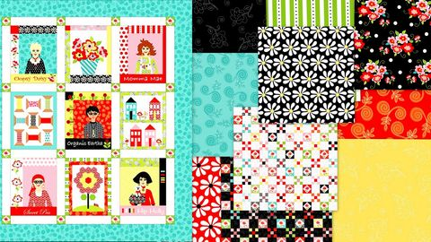 Fab,Friend'zy,Panel,Plus,Fat,Quarters,Modern,Medley,By,Henry,Glass,,quilt backing, dresses, quilt fabric,cotton material,auntie chris quilt,sewing,crafts,quilting,online fabric,sale fabric