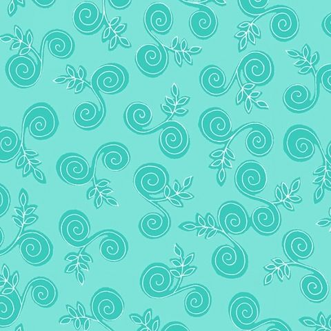 Cotton,Quilt,Fabric,Fab,Friend'zy,Swirly,Branch,Aqua,Blue,Henry,Glass,,quilt backing, dresses, quilt fabric,cotton material,auntie chris quilt,sewing,crafts,quilting,online fabric,sale fabric