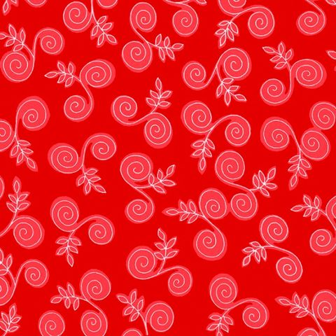 Cotton,Quilt,Fabric,Fab,Friend'zy,Swirly,Branch,Red,Henry,Glass,,quilt backing, dresses, quilt fabric,cotton material,auntie chris quilt,sewing,crafts,quilting,online fabric,sale fabric