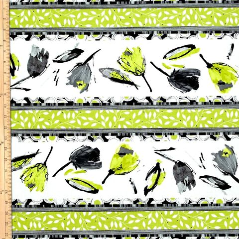 Cotton,Quilt,Fabric,Cosmopolitan,Tulip,Stripe,Lime,Green,Black,Flowers,,quilt backing, dresses, quilt fabric,cotton material,auntie chris quilt,sewing,crafts,quilting,online fabric,sale fabric