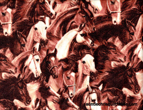 Cotton,Flannel,Quilt,Fabric,Running,Horses,Brown,Western,,quilt backing, dresses, quilt fabric,cotton material,auntie chris quilt,sewing,crafts,quilting,online fabric,sale fabric
