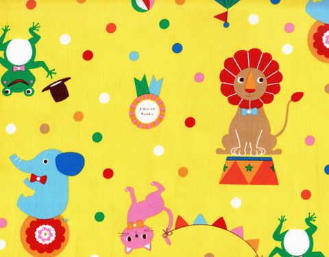 Cotton,Quilt,Fabric,Zoo,Animals,White,Yellow,Yuru,Japan,,quilt backing, dresses, quilt fabric,cotton material,auntie chris quilt,sewing,crafts,quilting,online fabric,sale fabric