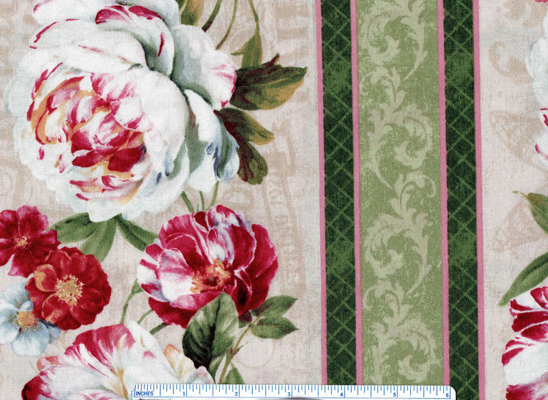 Cotton Quilt Fabric Wilmington Prints Sentimental Floral