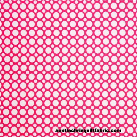 Cotton,Quilt,Fabric,Spot,On,Multi,Size,Dots,Dark,Pink,White,,quilt backing, dresses, quilt fabric,cotton material,auntie chris quilt,sewing,crafts,quilting,online fabric,sale fabric