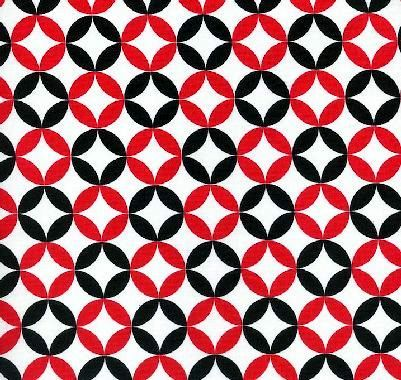 Cotton,Quilt,Fabric,Fun,C3851,Red,White,Black,Geometric,Circles,,quilt backing, dresses, quilt fabric,cotton material,auntie chris quilt,sewing,crafts,quilting,online fabric,sale fabric