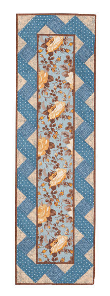 "Gold Spice French Country Table Runner Kit Blue Yellow 12"" x 42"" - product images  of"