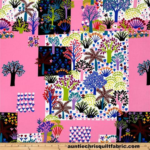 Cotton,Quilt,Fabric,Folkorico,Jardin,Colorido,Pink,Alexander,Henry,,quilt backing, dresses, quilt fabric,cotton material,auntie chris quilt,sewing,crafts,quilting,online fabric,sale fabric
