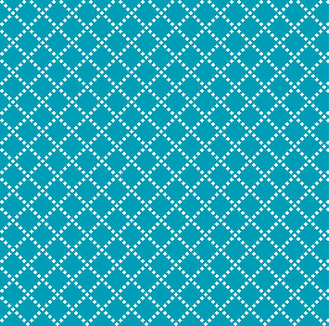 Cotton,Quilt,Fabric,Good,Neighbors,Cross,Stitch,Teal,Blue,,quilt backing, dresses, quilt fabric,cotton material,auntie chris quilt,sewing,crafts,quilting,online fabric,sale fabric
