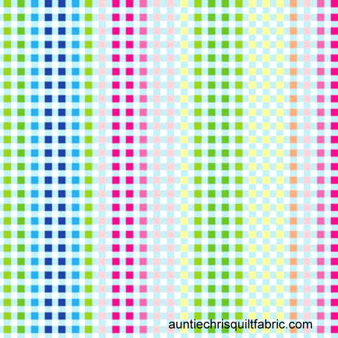 Cotton,Quilt,Fabric,Manhatten,Modern,Check,Pastel,Multi,02748,,quilt backing, dresses, quilt fabric,cotton material,auntie chris quilt,sewing,crafts,quilting,online fabric,sale fabric