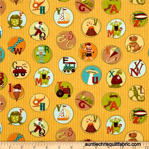 Cotton,Quilt,Fabric,Mischief,Play,Chips,Yellow,Kids,Alphabet,Animals,,quilt backing, dresses, quilt fabric,cotton material,auntie chris quilt,sewing,crafts,quilting,online fabric,sale fabric