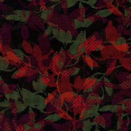 Cotton Quilt Fabric Jinny Beyer Safari Foliage Red Green Leaves - product image