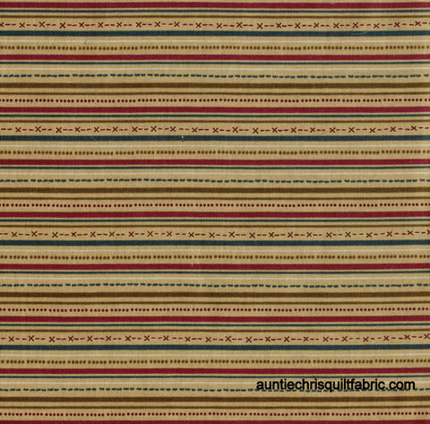 Cotton,Quilt,Fabric,Highland,Country,Christmas,Stripe,Tan,,quilt backing, dresses, quilt fabric,cotton material,auntie chris quilt,sewing,crafts,quilting,online fabric,sale fabric