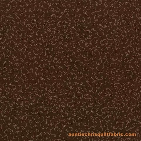 Cotton,Quilt,Fabric,Lily's,Garden,Loopy,Meander,2032-3,Brown,,quilt backing, dresses, quilt fabric,cotton material,auntie chris quilt,sewing,crafts,quilting,online fabric,sale fabric